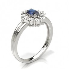 Blauer Saphir Fashion Ring in einer Krappenfassung
