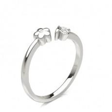 Runder Fashion Diamantring in einer Pavé- und Zargenfassung