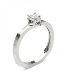 Runder Diamant Cluster Ring in einer Krappenfassung
