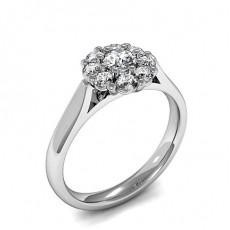 Runder-und- Oval Mehrfachdiamant Ring in einer Krappenfassung