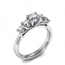 Runder Diamant Mode Ring in einer halben Zargenfassung